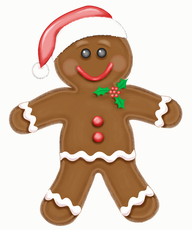 Free gingerbread man clipart to use clip art resource.