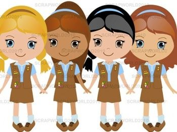 Girl Scouts Brownie set 4png special price.