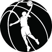Free Girls Basketball Clipart.
