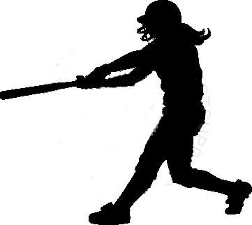 Girls Softball Clipart.