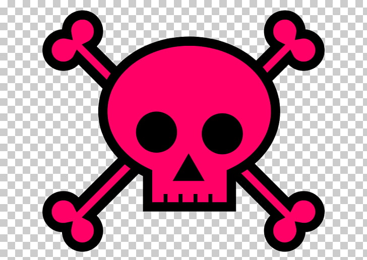 Girly girl Skull and crossbones , Skulls s PNG clipart.