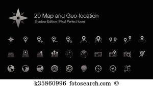 Gis Clipart Illustrations. 17 gis clip art vector EPS drawings.