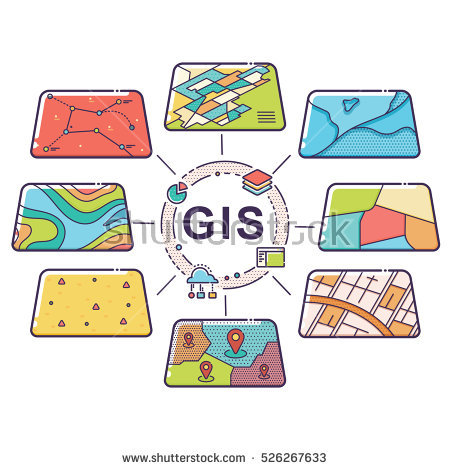 Gis Stock Images, Royalty.