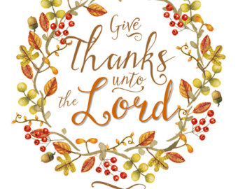 Give Thanks Unto The Lord Clipart.