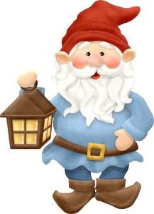Garden Gnome Clipart.