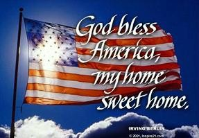 Free God Bless America American Clipart.