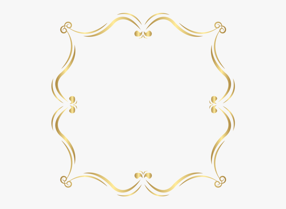 Gold Border Clipart.