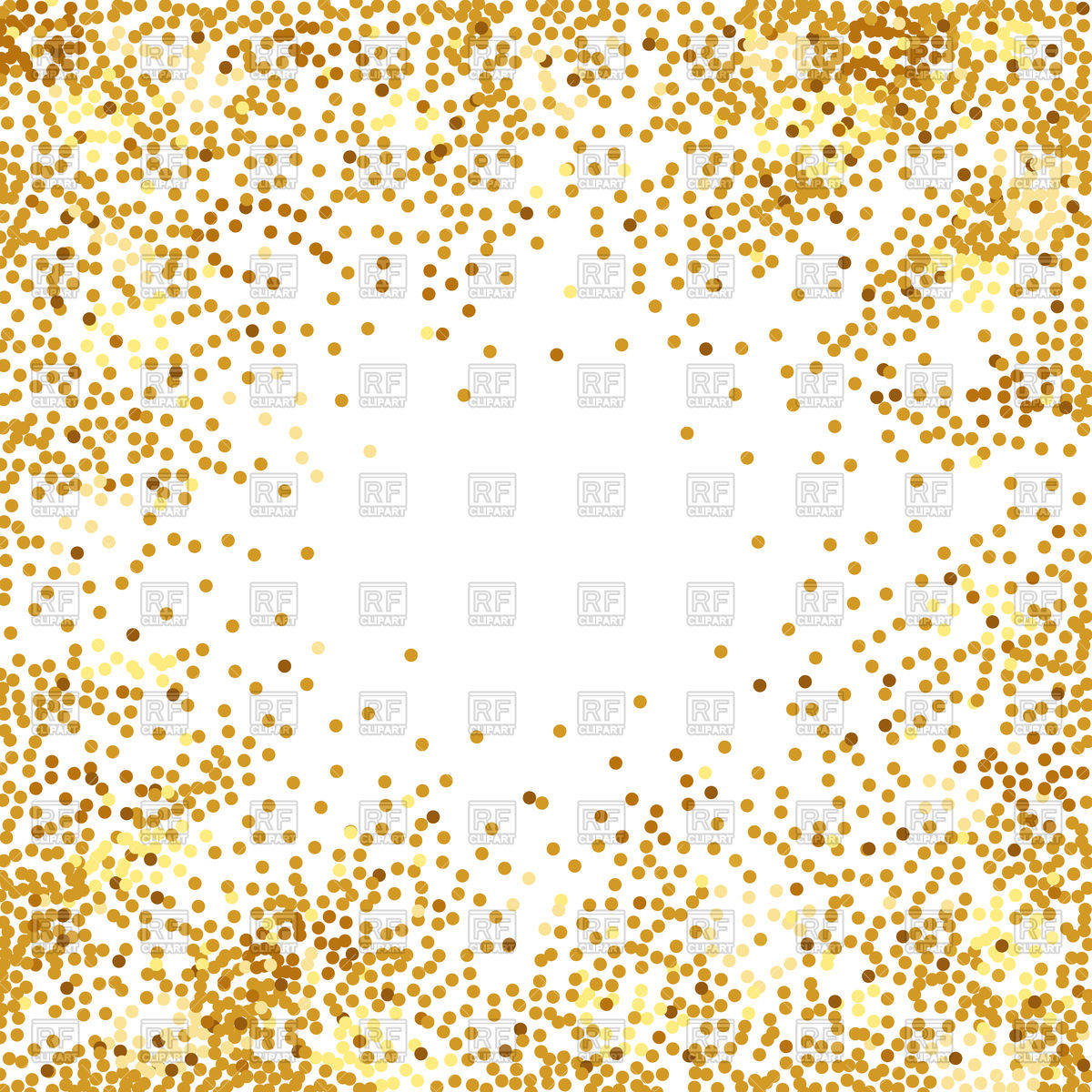 Abstract golden confetti background Stock Vector Image.