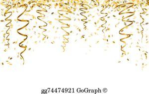 Gold Confetti Clip Art.