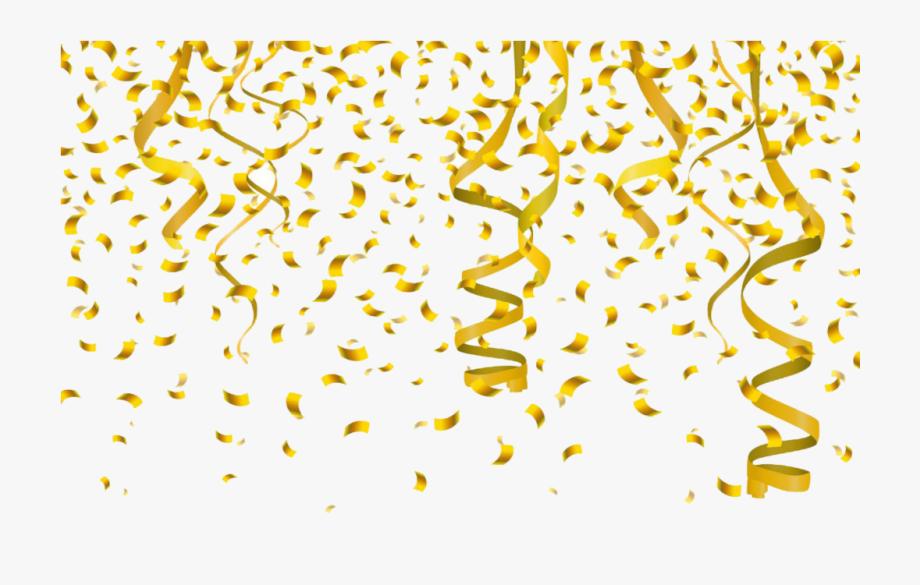 Gold Confetti Clipart.