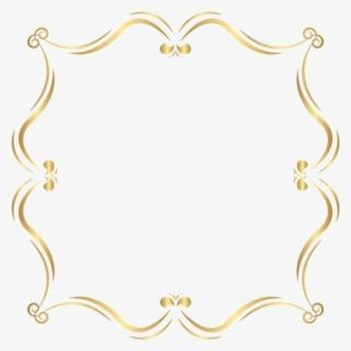 Gold Frame Border PNG, Transparent Gold Frame Border PNG.