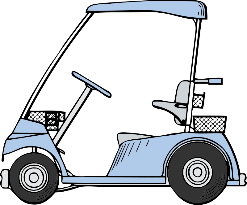 Free Clipart: Golf cart.