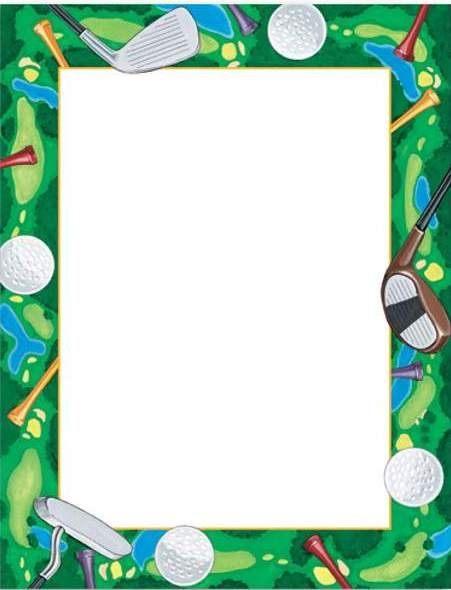 Golf clip art border.