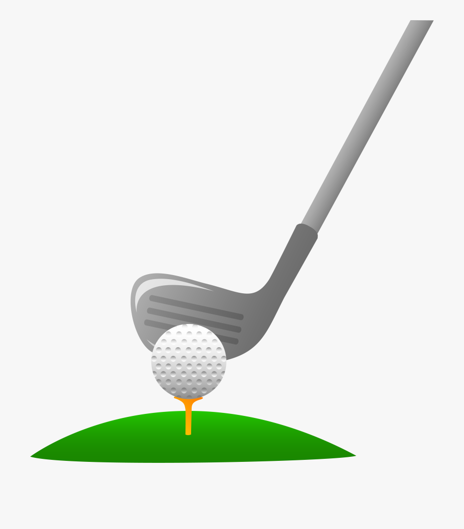 Closeup Of Golf Ball And Club Free Clip Art.