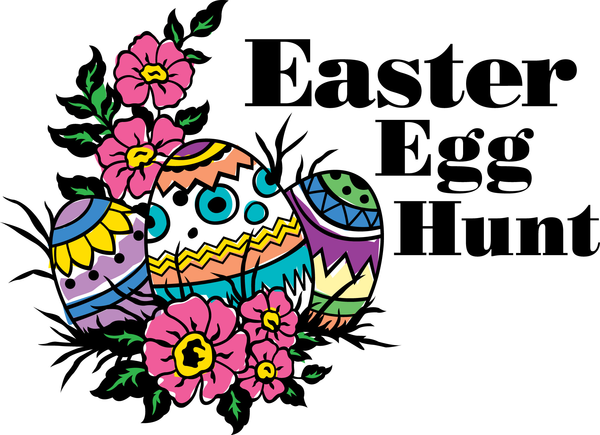 180 Easter Egg Hunt free clipart.