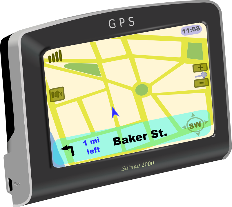 Free Clipart: GPS on.
