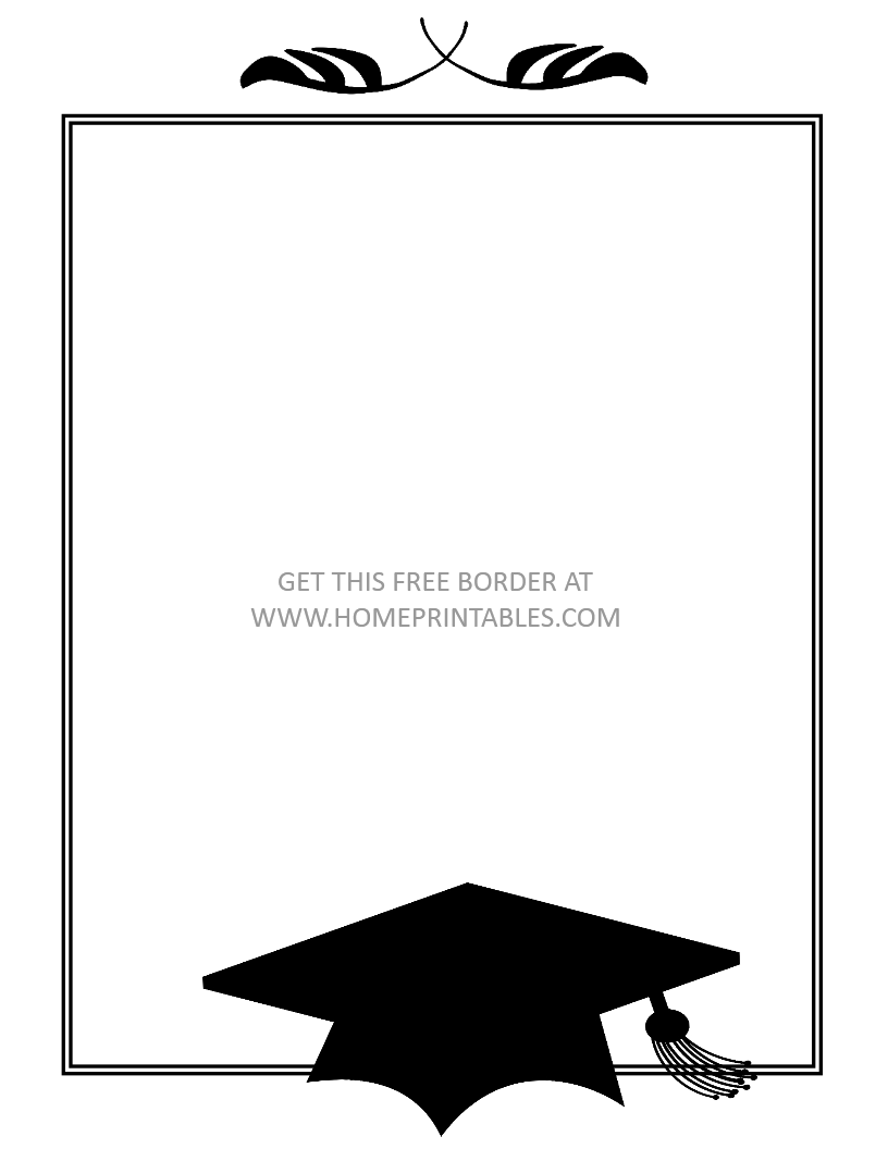 15 Free Graduation Borders {With 5 NEW Designs!}.