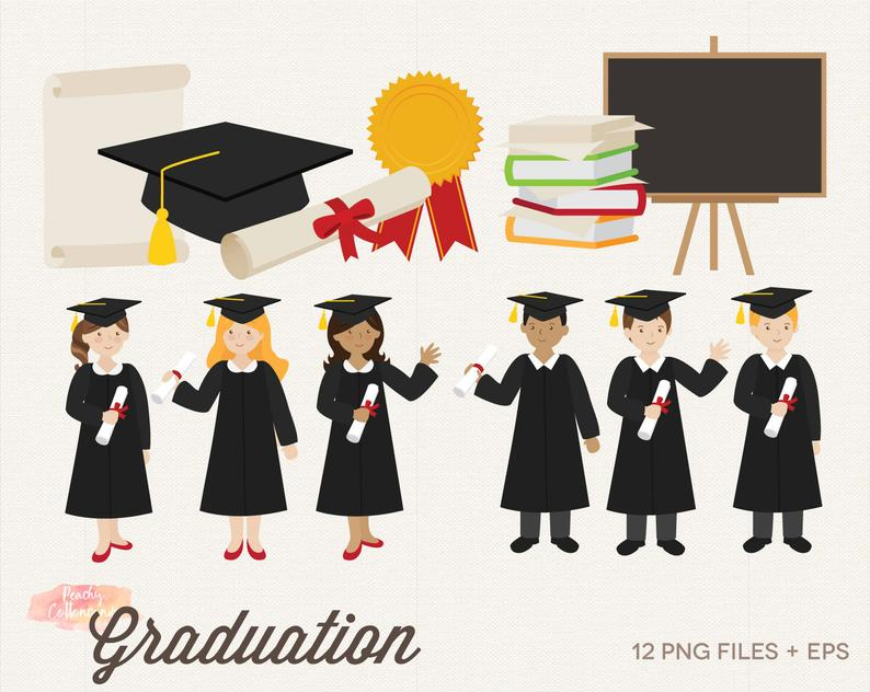 BUY 2 GET 1 FREE Graduation Clipart.