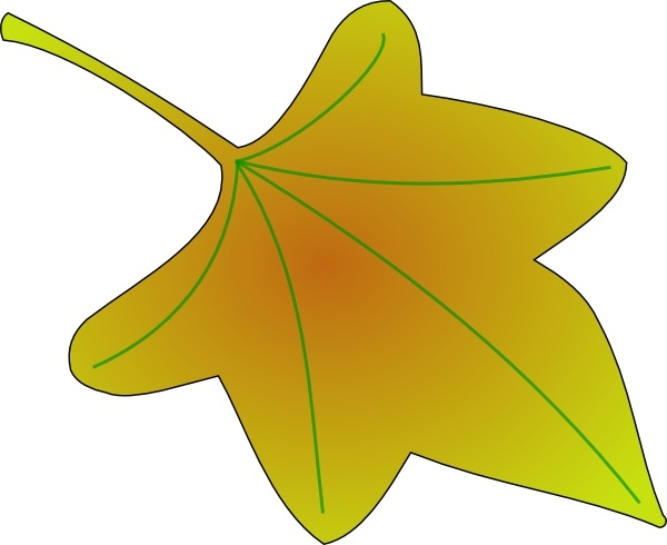 Grape Leaf clip art Free vector in Open office drawing svg.