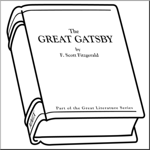 Clip Art: Book: The Great Gatsby B&W I abcteach.com.