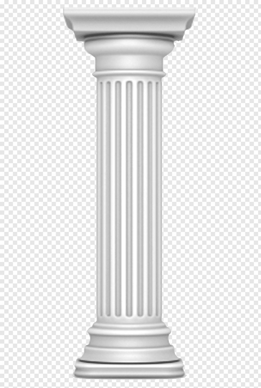 Gray pillar illustration, Column Doric order Ancient Roman.