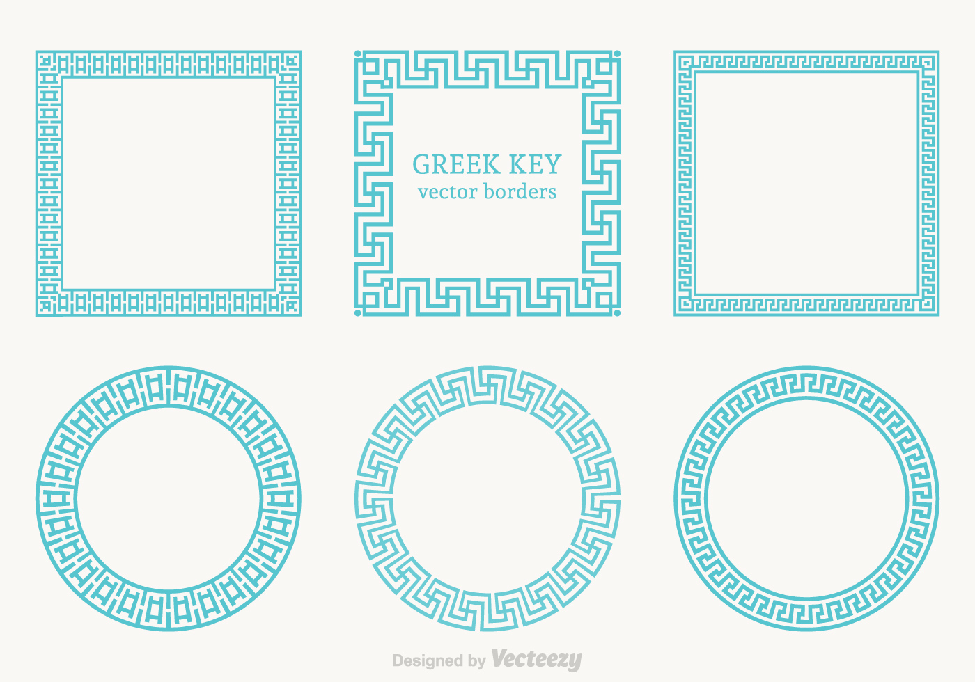 Free Greek Key Vector Borders.
