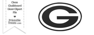 Old Paper Giant Green Bay Packers Logo Clipart — Printable Treats.com.