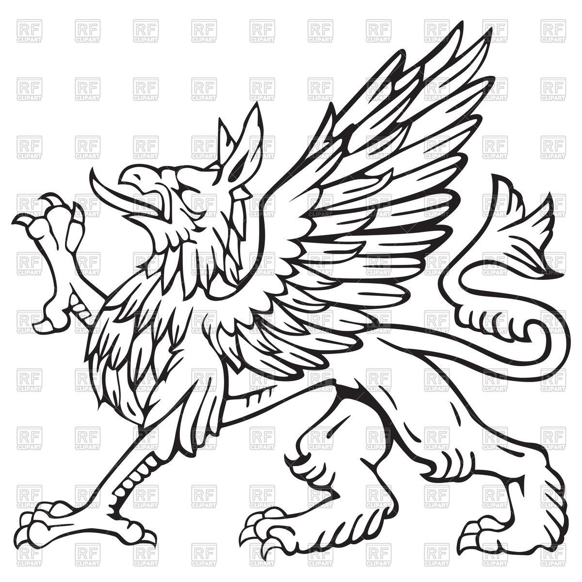 Heraldic griffin Stock Vector Image.