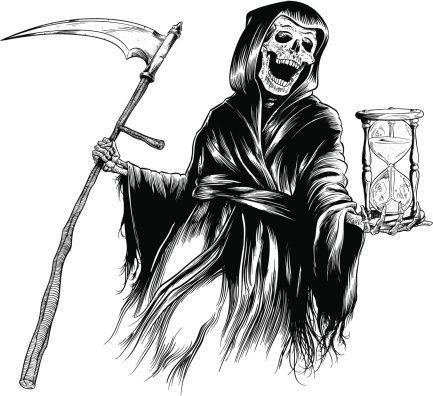 Grim Reaper Clip Art, Vector Images & Illustrations.