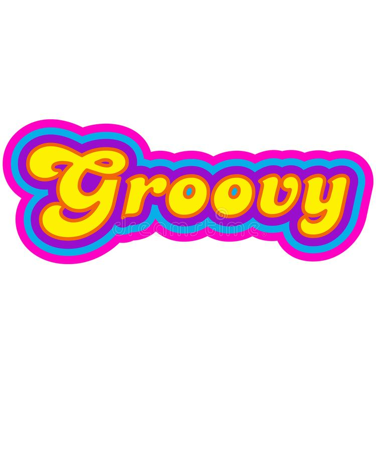 Groovy Word Stock Illustrations.