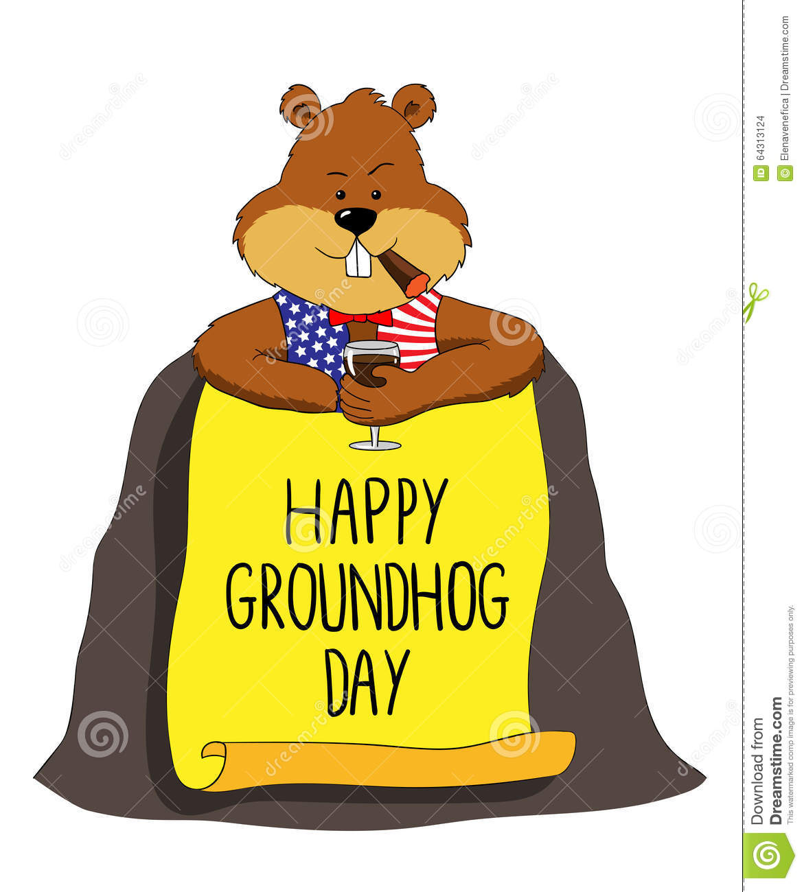 Free happy groundhog day clipart 3 » Clipart Station.