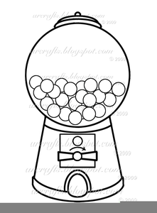 Black And White Gumball Machine Clipart.