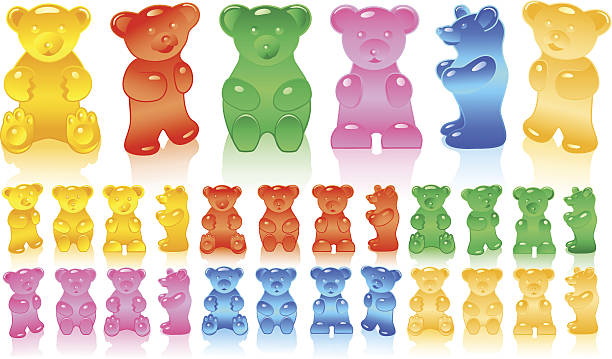 Best Gummy Bear Illustrations, Royalty.