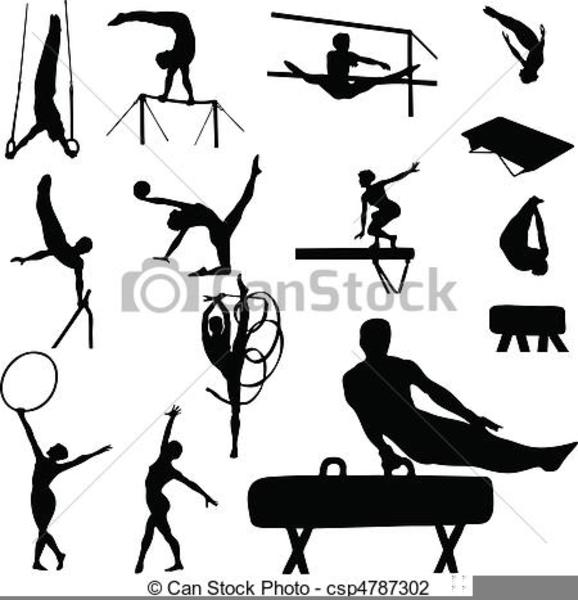 Free Gymnastics Clipart Black And White.
