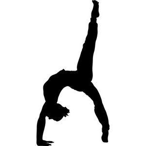 Gymnastics clipart black and white clipart free clipart the cliparts.