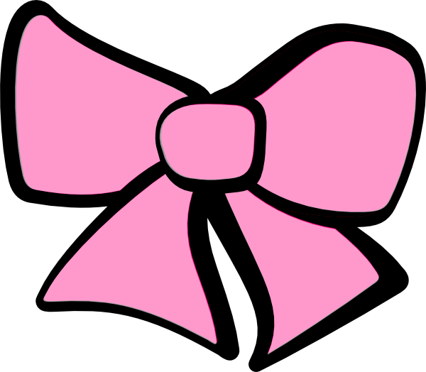 Pink Hair Bow Clip Art N11 free image.