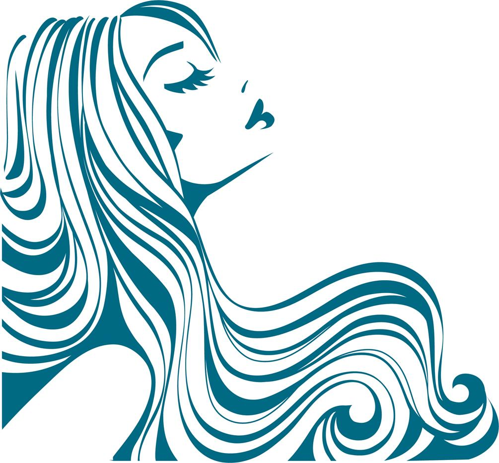 Flowing Hair Silhouette.