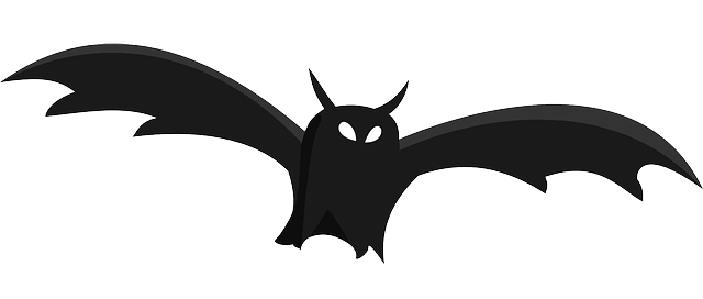 Halloween Bat Column Clipart.