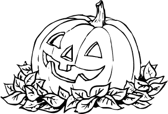Halloween black and white free halloween pumpkins clipart.
