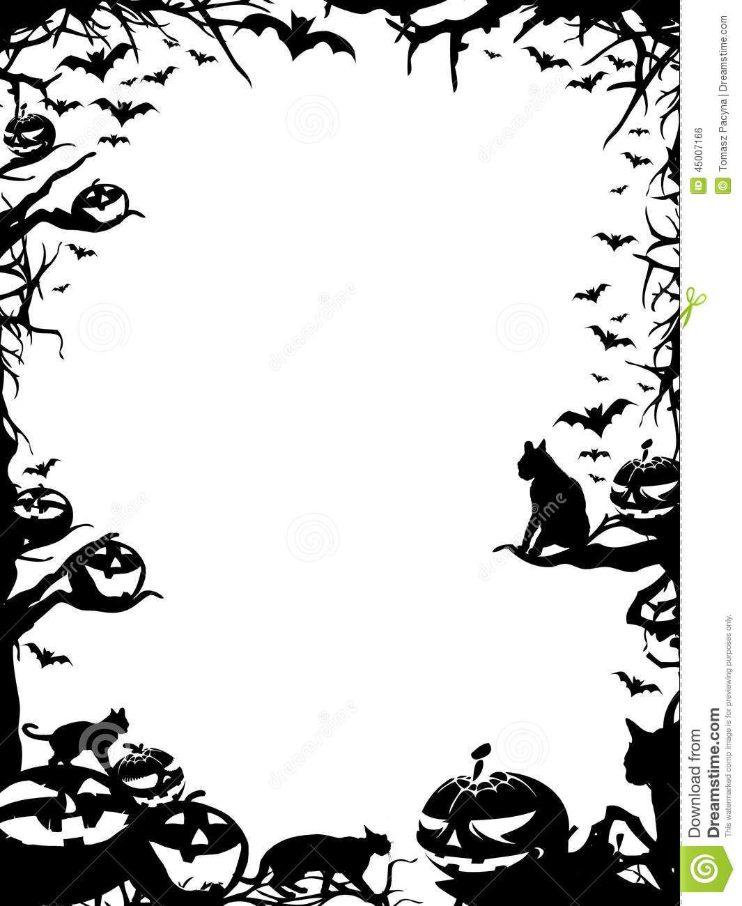 Black And White Halloween Borders (6) in 2019.