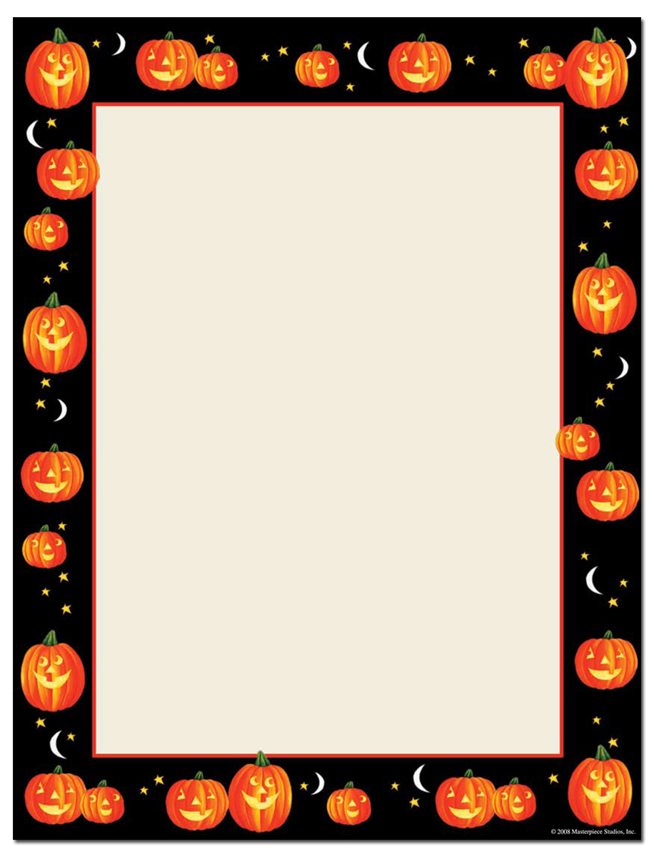 halloween page borders microsoft word.