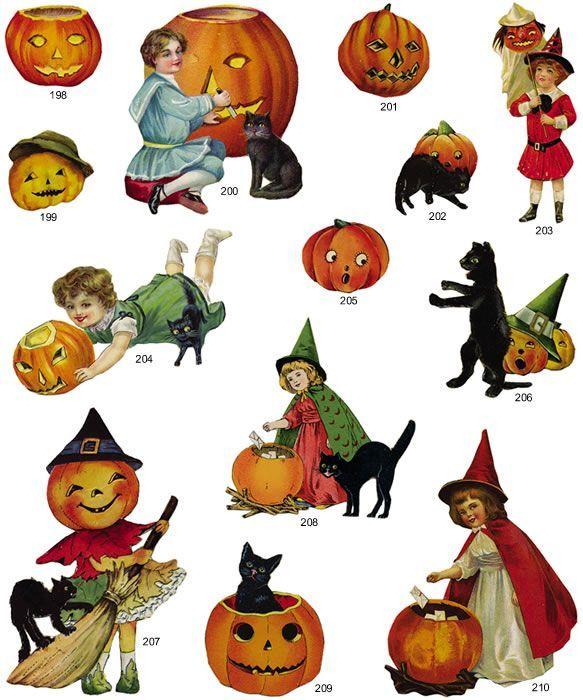 Vintage Halloween Clip Art Free.