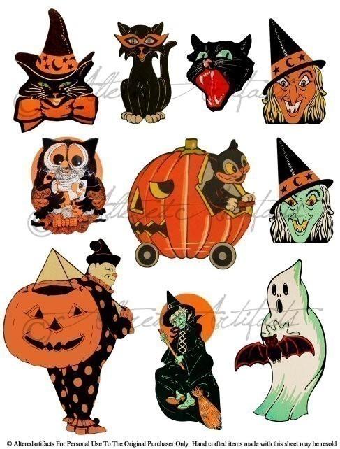 34+ Vintage Halloween Clipart.