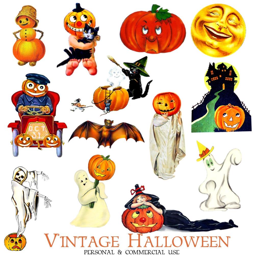 33+ Vintage Halloween Clipart.