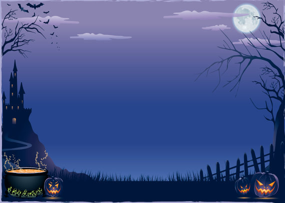 Clipart Halloween Background.