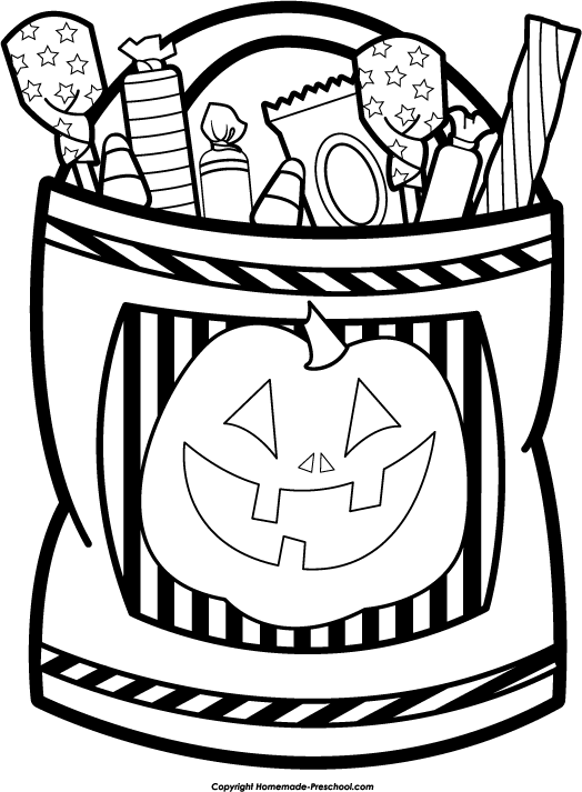 Halloween Clipart Black And White Free.