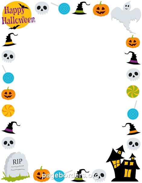 Halloween Clipart Borders Png.