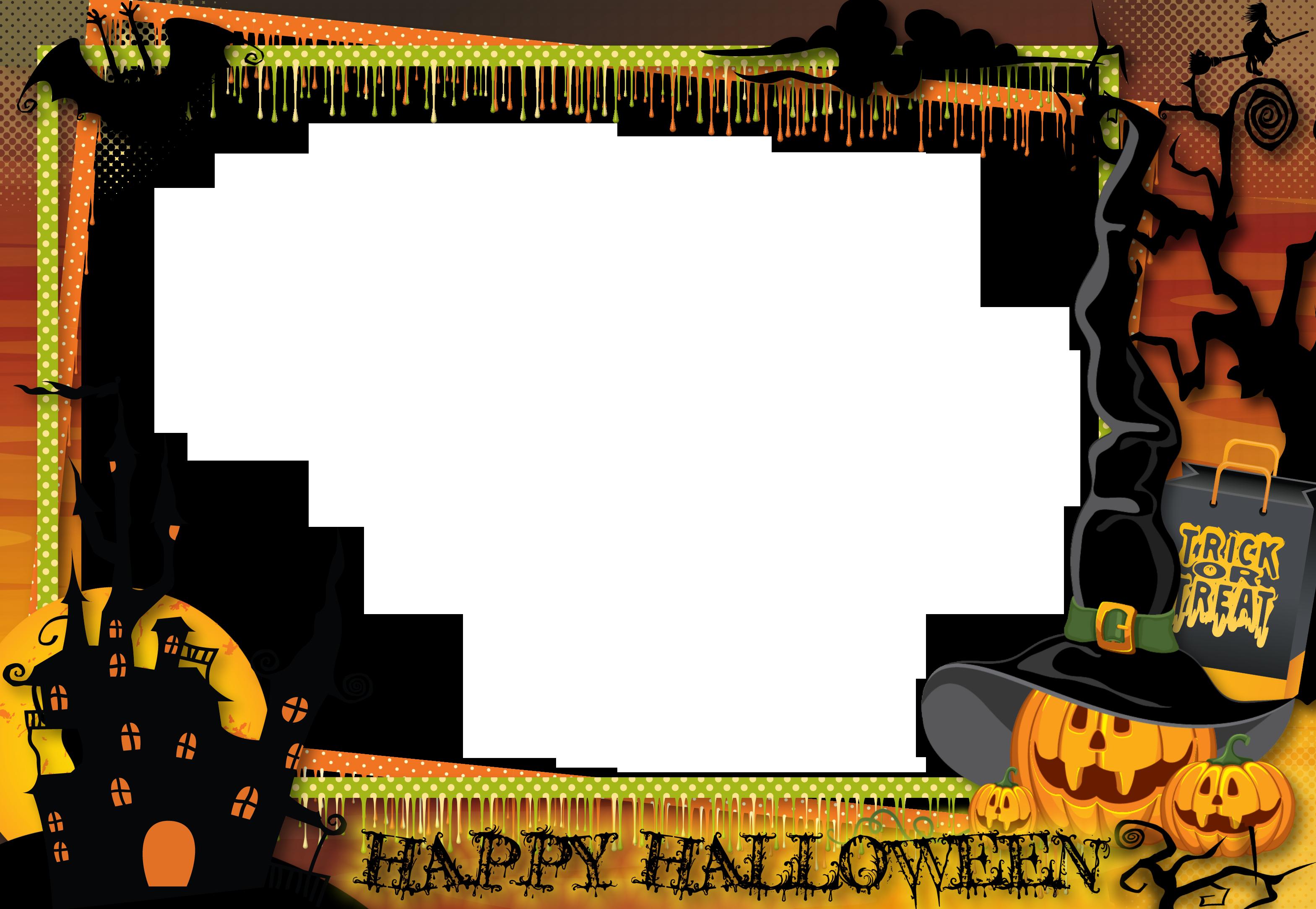 Halloween Transparent Large PNG Photo Frame.