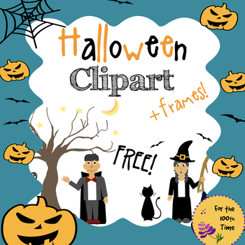 FREE Halloween Clipart with Black & White Images and Frames!.
