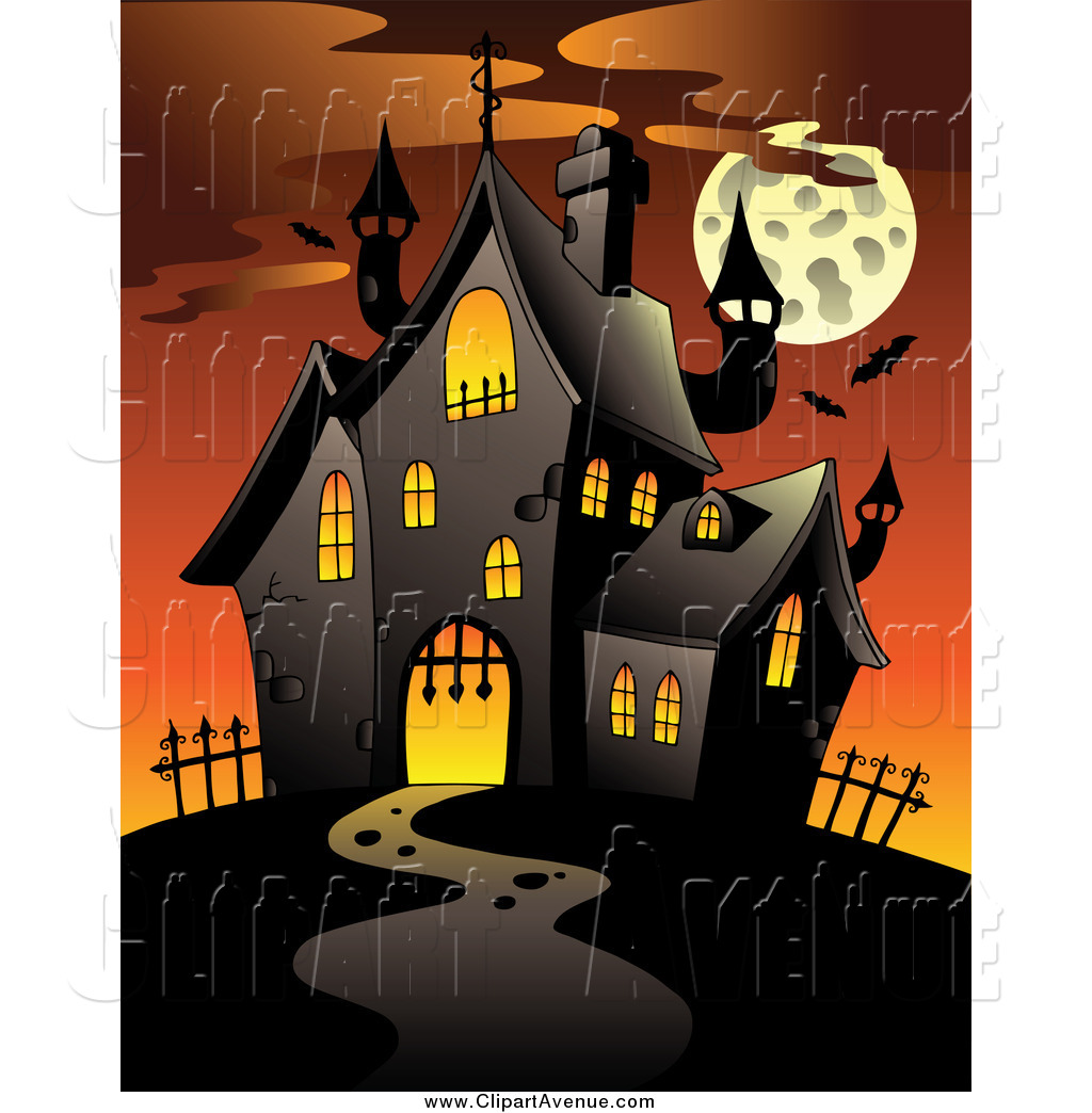 Free Halloween Haunted House Clipart.